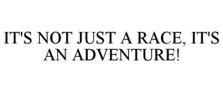 mark for IT'S NOT JUST A RACE, IT'S AN ADVENTURE!, trademark #85846359