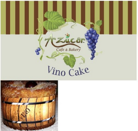 mark for AZUCAR CAFE & BAKERY VINO CAKE VINO, trademark #85846967