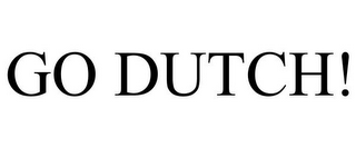 mark for GO DUTCH!, trademark #85848302