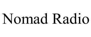 mark for NOMAD RADIO, trademark #85848487