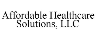 mark for AFFORDABLE HEALTHCARE SOLUTIONS, LLC, trademark #85848738