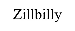 mark for ZILLBILLY, trademark #85848993