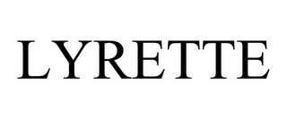 mark for LYRETTE, trademark #85849129