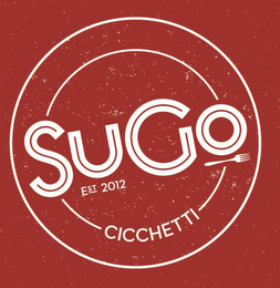 mark for SUGO CICCHETTI EST 2012, trademark #85850185