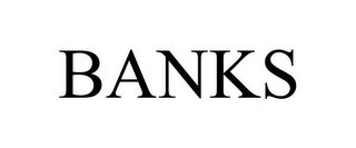 mark for BANKS, trademark #85850470