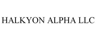 mark for HALKYON ALPHA LLC, trademark #85850597