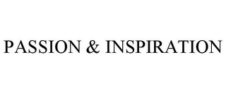 mark for PASSION & INSPIRATION, trademark #85850860