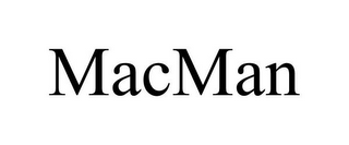 mark for MACMAN, trademark #85850991