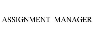 mark for ASSIGNMENT MANAGER, trademark #85851006