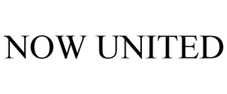 mark for NOW UNITED, trademark #85851328