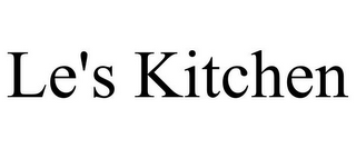 mark for LE'S KITCHEN, trademark #85851423