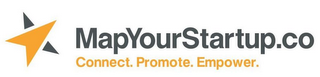 mark for MAPYOURSTARTUP.CO CONNECT. PROMOTE. EMPOWER., trademark #85851704