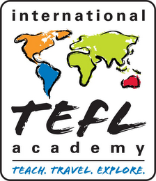 mark for INTERNATIONAL TEFL ACADEMY TEACH. TRAVEL. EXPLORE., trademark #85852043