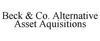 mark for BECK & CO. ALTERNATIVE ASSET AQUISITIONS, trademark #85852673