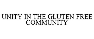 mark for UNITY IN THE GLUTEN FREE COMMUNITY, trademark #85852890