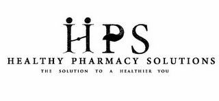 mark for HPS HEALTHY PHARMACY SOLUTIONS THE SOLUTION TO A HEALTHIER YOU, trademark #85853348