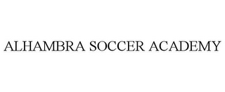 mark for ALHAMBRA SOCCER ACADEMY, trademark #85853570