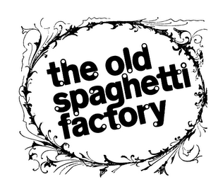 mark for THE OLD SPAGHETTI FACTORY, trademark #85854010