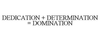 mark for DEDICATION + DETERMINATION = DOMINATION, trademark #85854426