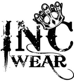 mark for INC WEAR, trademark #85854450