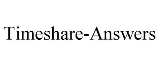 mark for TIMESHARE-ANSWERS, trademark #85855189