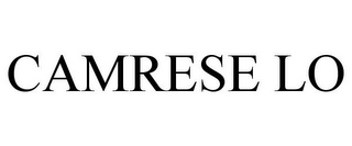 mark for CAMRESE LO, trademark #85855235