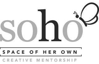 mark for SOHO SPACE OF HER OWN CREATIVE MENTORSHIP, trademark #85855260
