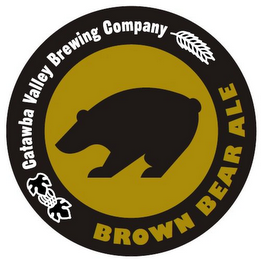 mark for CATAWBA VALLEY BREWING COMPANY BROWN BEAR ALE, trademark #85855524