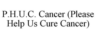 mark for P.H.U.C. CANCER (PLEASE HELP US CURE CANCER), trademark #85855531