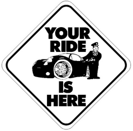 mark for YOUR RIDE IS HERE, trademark #85855540