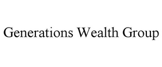 mark for GENERATIONS WEALTH GROUP, trademark #85855637