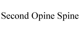 mark for SECOND OPINE SPINE, trademark #85855996