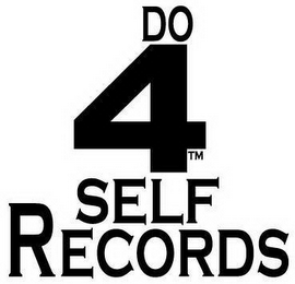 mark for DO 4 SELF RECORDS, trademark #85856018