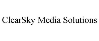 mark for CLEARSKY MEDIA SOLUTIONS, trademark #85856019