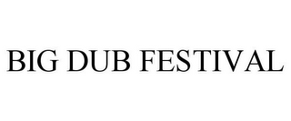 mark for BIG DUB FESTIVAL, trademark #85856380