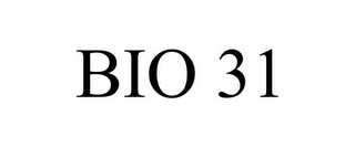 mark for BIO 31, trademark #85856520