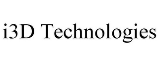 mark for I3D TECHNOLOGIES, trademark #85856542