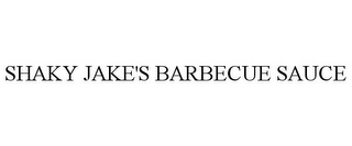 mark for SHAKY JAKE'S BARBECUE SAUCE, trademark #85857225