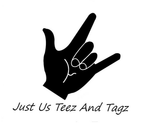 mark for JUST US TEEZ AND TAGZ, trademark #85858156