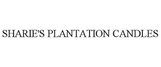 mark for SHARIE'S PLANTATION CANDLES, trademark #85858210