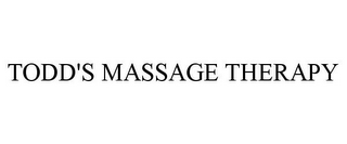 mark for TODD'S MASSAGE THERAPY, trademark #85858570