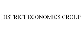 mark for DISTRICT ECONOMICS GROUP, trademark #85859576