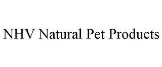 mark for NHV NATURAL PET PRODUCTS, trademark #85859785