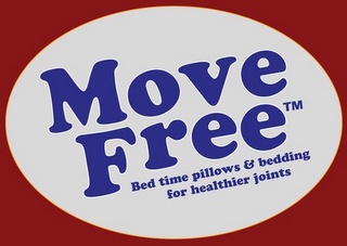 mark for MOVE FREE BED TIME PILLOWS & BEDDING FOR HEALTHIER JOINTS, trademark #85860374