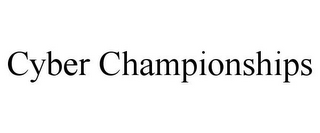 mark for CYBER CHAMPIONSHIPS, trademark #85861098
