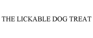 mark for THE LICKABLE DOG TREAT, trademark #85862808