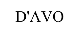 mark for D'AVO, trademark #85863557