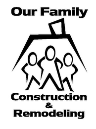 mark for OUR FAMILY CONSTRUCTION & REMODELING, trademark #85863591