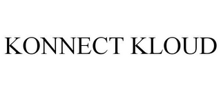 mark for KONNECT KLOUD, trademark #85864037