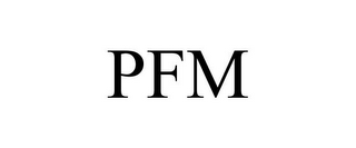 mark for PFM, trademark #85864093